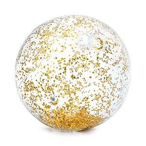 Bola de Praia Transparente com Glitter Intex  Dourado 71cm