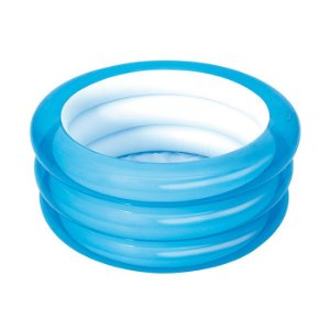 Piscina Banheira Infantil Inflável Baby 3 Anéis 43l Bestway Cor Azul