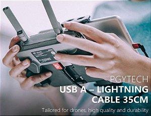 PGYTECH Cabo USB para Cabo Lightning para DJI Mavic 2 Pro / Zoom / Mavic Pro / Mavic Air, DJI Phantom / Inspire Series Drone, 35cm / 13,77 polegadas