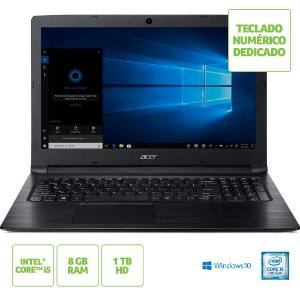 Notebook Acer A315-53-52zz Intel Core I5 7200u 8gb(2x4gb) 1tb 15,6 Windows 10 Home