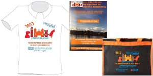 Caderno, Pasta VIII e Camiseta (P) VIII CONGEA - Kit
