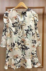 Vestido Crepe Floral Marina