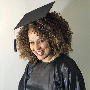Chapéu de Formatura Capelo para Cabelos Afro e Volumosos