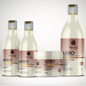 Kit de Tratamento NUB AFRI para cabelos crespos e cacheados