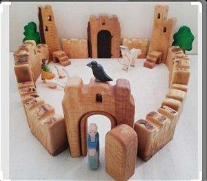 Castelinho de Madeira - 16 peças