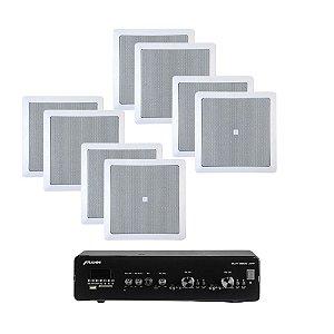 Kit Amplificador Frahm Slim 3900 APP + 8 Arandelas 6CO1Q JBL