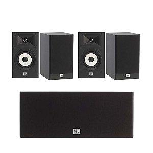 Kit de Caixas Acústicas 5.0 JBL Para Home Theater - 1 Stage A125C Central + 4 Stage A130 Bookshelf