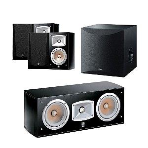 Kit 5.1 Caixas Acústicas Yamaha - 01 NS-C444 Central + 04 NS-333 Bookshelf + 01 Subwoofer Ns-Sw100