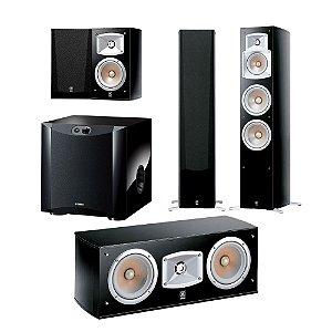 Kit 5.1 Caixas Acústicas Yamaha - 01 NS-C444 Central + 02 NS-333 Bookshelf + 02 NS-555 Torres + 01 Subwoofer Ns-Sw200