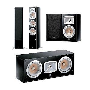 Kit 5.0 Caixas Acústicas Yamaha - 01 NS-C444 Central + 02 NS-333 Bookshelf + 02 NS-555 Torres