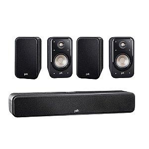 Kit 5.0 Caixas Acústicas Polk Audio Para Home Theater - 01 Central S35 + 04 Bookshelf S20