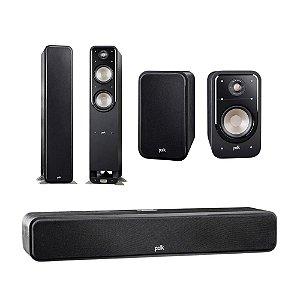 Kit 5.0 Caixas Acústicas Polk Audio Para Home Theater - 01 Central S35 + 02 Bookshelf S20 + 02 Torres S55