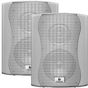 Caixa de Som Acústica Frahm PS 4 Plus 80W Rms Branca Par