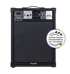 Caixa de Som Amplificada Multiuso Frahm MF 12V APP - Bluetooth USB SD FM - 100W Rms