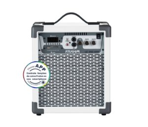 Caixa de Som Amplificada Multiuso Frahm LC 250 APP Branca - Bluetooth USB SD FM - 60W Rms