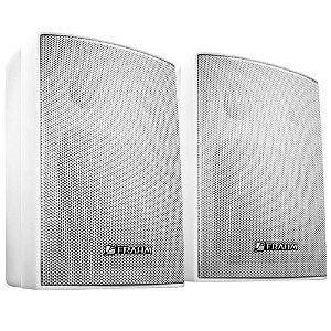 Caixa De Som Acústica Frahm PS200 Plus C/ Suporte Branca Par