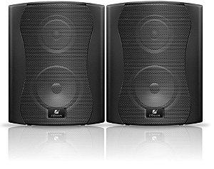 Caixa de Som Acústica Frahm PS 4 Plus 80W Rms Preta Par