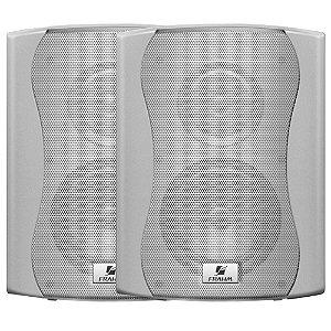Caixa de Som Acústica Frahm Ps 5 Plus 100W Rms Branca Par