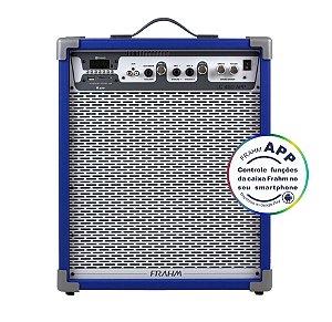 Caixa De Som Amplificada Multiuso Frahm Lc 450 APP Azul - Bluetooth USB SD FM - 80W Rms