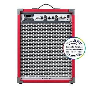 Caixa De Som Amplificada Multiuso Frahm Lc 650 APP Vermelha