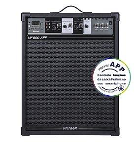 Caixa De Som Amplificada Multiuso Frahm MF 800 APP - Bluetooth USB SD FM - 120W Rms
