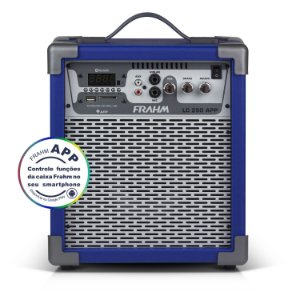 Caixa de Som Amplificada Multiuso Frahm LC 250 APP Azul