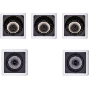 Kit Home Theater Loud Bronze - 3 Arandelas Quadradas SL6 100W + 2 Arandelas Quadradas SQ6 100W