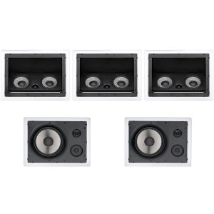 Kit Home Theater 5.0 Loud - 3 Arandelas LHT 100W + 2 LHT TW 80W