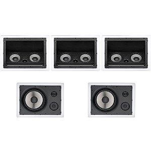 Kit Home Theater Loud - 3 Arandelas LHT 100W + 2 LHT TW 80W