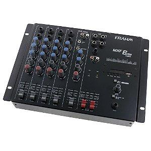 Mesa de Som Mixer Frahm MXF 6 USB - 6 Canais