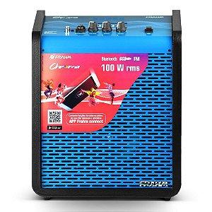 Caixa de Som Amplificada Multiuso Frahm Chroma CR400 APP Bluetooth Blue