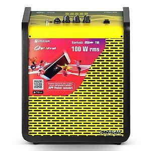 Caixa de Som Amplificada Multiuso Frahm Chroma CR400 APP Bluetooth Yellow
