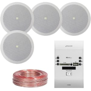 Kit RD Wall Frahm + 4 Arandelas 6co2r JBL + Brinde