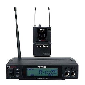 Monitor Sem Fio Tag Sound TG-9000 UHF Com Receptor Bodypack True