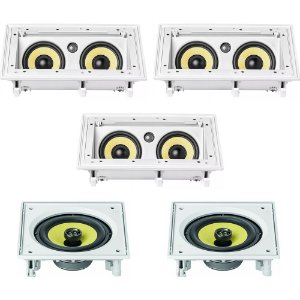 Kit Home Theater 5.0 JBL - 3 Arandelas CI55RA + 2 Arandelas CI6S