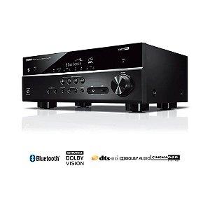 Receiver Yamaha RX-V385 BL 5.1ch Bluetooth YPAO 4K UltraHD 3D HDR10 - Bivolt