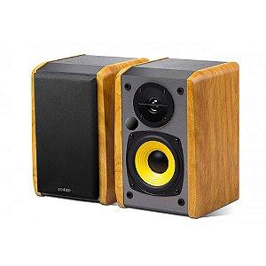 Caixa de Som Edifier R1010BT Monitor de Áudio Bluetooth 24W Rms Bivolt Par - Madeira
