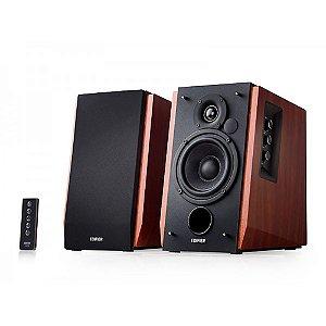 Caixa de Som Edifier R1700BT Monitor de Áudio 2.0ch DSP DRC Bluetooth 66W Rms Bivolt Par - Madeira