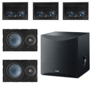 Kit Home Theater 5.1 - 3 Arandelas AAT LCR-A100 + 2 LR-E100 + 1 Subwoofer Yamaha Ns-Sw050