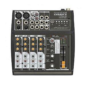 Mesa de Som Mixer Soundcraft SX 602 FX USB - 6 Canais