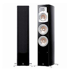 Caixa Acústica Yamaha NS-555 Torre 3-Vias, 4-Falantes Bass-Reflex Preta Par