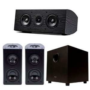 Kit Home Theater Pioneer - 2 Bookshelfs Elite SP-EBS73-LR Dolby Atmos + 1 Central SP-C22 + 1 Subwoofer Ativo SW10 Bivolt