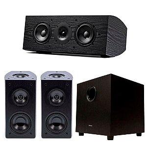 Kit Home Theater Pioneer - 2 Bookshelf Elite SP-EBS73-LR Dolby Atmos + 1 Central SP-C22 + 1 Subwoofer Ativo SW10 Bivolt