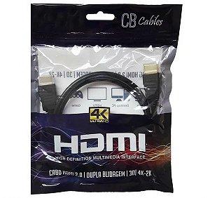 Cabo HDMI 2.0 1,8M CB Cables Blindagem Dupla