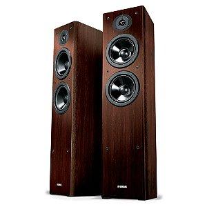 Caixa Acústica Yamaha NS-F51 Torre Para Home Theater Walnut Par
