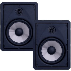 """Arandela Loud 6"""" Retangular LR6 50w Passiva 2 Vias Branca Par"""