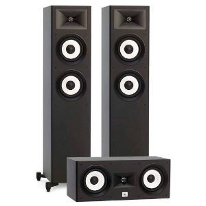Kit Home Theater 3.0 JBL - 2 Stage A180 Torres + 1 Stage A125C Central