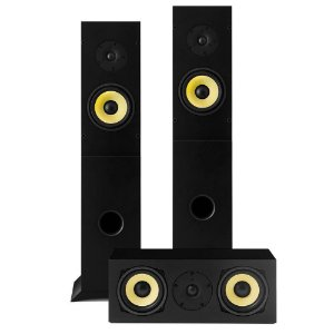 Kit Home Theater 3.0 AAT - 2 Rakt T-100 Torres + 1 Rakt C-140 Central