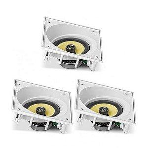 """Kit Home Theater 3.0 JBL - 3 Arandelas CI8SA Anguladas com Cone de Kevlar 8"""""""