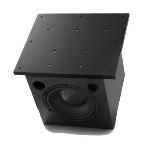 """Subwoofer Ativo AAT Cube Invisible 8"""" 200W Rms Preto"""